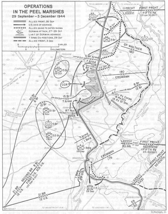 us non airborne troops in holland in world war ii 104th Division LT macdonald siegrfried line map